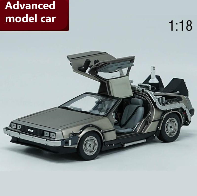 1:18 advanced DeLorean alloy car model toy,diecast metal model toy vehicle,high quality collection Concept cars free shipping area