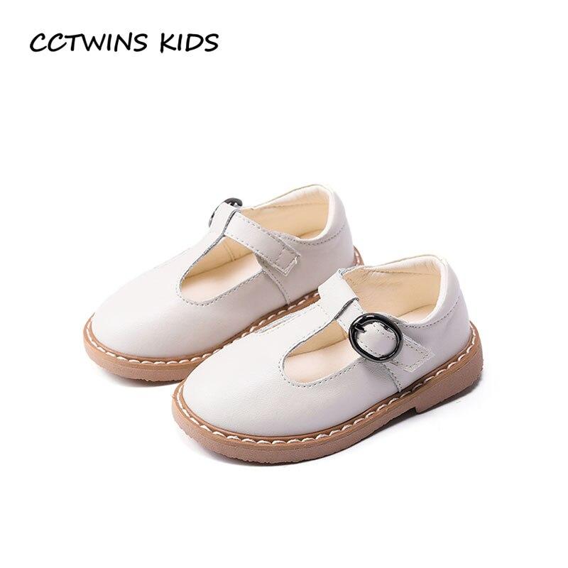 Cctwins дети 2018 Весна для маленьких девочек из искусственной кожи с Т-образным ремешком модные детские вечерние обуви малыша бренд розовый тан...