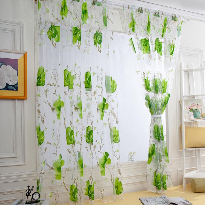 Aliexpress.com : Buy Window Curtain Vines Leaves Tulle