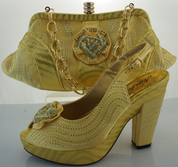 ФОТО Italian African Shoes And Bag Set For Party In Women Italian Matching Shoe And Bag Set For Wedding Fashion Pumps Shoes ME3301