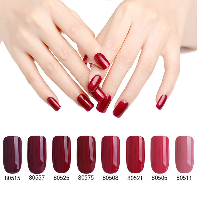 Frisch Bluesky Gel Polish 2017 Spring&Summer RED Color Gel 10ml Easy Soak  KU64