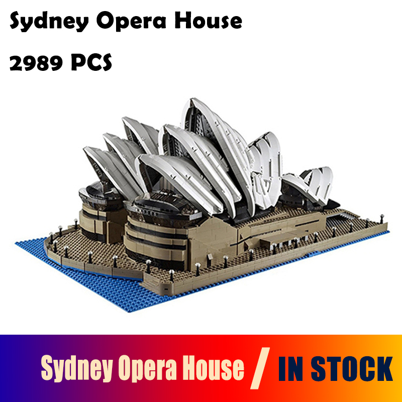 Model Building Blocks toys 2989Pcs 17003 Sydney Opera House Kits figures Compatible with lego 10222 Educational toys hobbies lepin 17003 2989pcs sydney opera house model building kits blocks bricks toys compatible legoed 10222