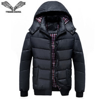 Solid Color Men S Down Jackets 2016 New Winter Casual Brand Clothing Hooded Male Jacket Zipper