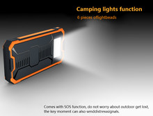 Solar Power Bank 20000 mAh External Battery Backup Charger Package Dual USB LED Light Power Bank for Mobile Phone