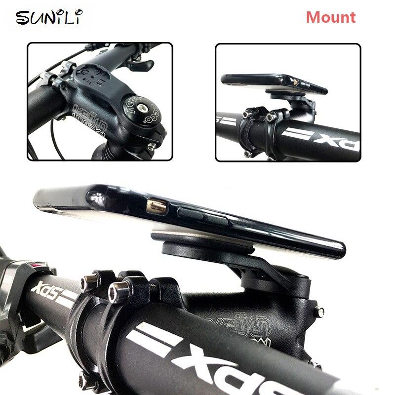 Bike Phone Stick Adapter Holder For Garmin Edge GPS Computer Mount Bracket Black