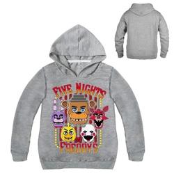 Dlf 2-16years 2019 primavera cinco noites no freddy hoodies crianças moletom meninas roupas adolescentes meninos com capuz t camisa outwear topos
