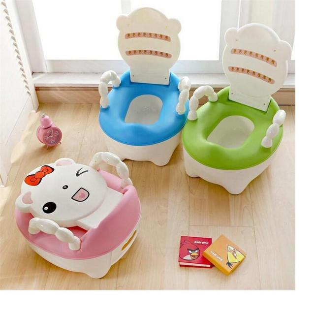 2017 Bonito Pote infantil Potty Wc Merda Xixi Urina Portátil Assento do Toalete do bebê Mictório Para Crianças Cadeira Potty Higiênico Criança formação