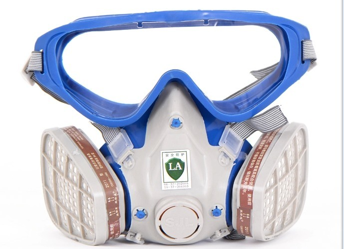new style SJL 6200 Suit Respirator Painting Spraying Face Gas Mask with Goggles Paint glasses 11 in 1 suit 3m 6200 half face mask with 2091 industry paint spray work respirator mask anti dust respirator fliters
