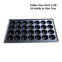Takoyaki Grill Tray Octopus Ball Maker Spare Part Meatballs Baker Plate Ball Diameter 40mm