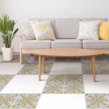 цена 4pcs Nordic Italian Pattern Floor Stick Waterproof PVC Wallpaper DIY Art Decals for Kitchen Bathroom Home Decoration Wall Stick в интернет-магазинах
