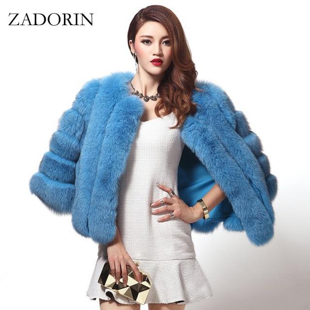 45a24e7684a Oversized High Quality Winter Women Faux Fox Fur Coat Luxury Short Faux Fur  Jackets And Coats Women Parka manteau fourrure femme
