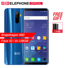 Elephone U Pro 5.99'' Snapdragon 660 Mobile Phone Android 8.0 6GB 128GB Octa Core 13MP Face ID Fingerprint NFC 4G LTE Smartphone(China)