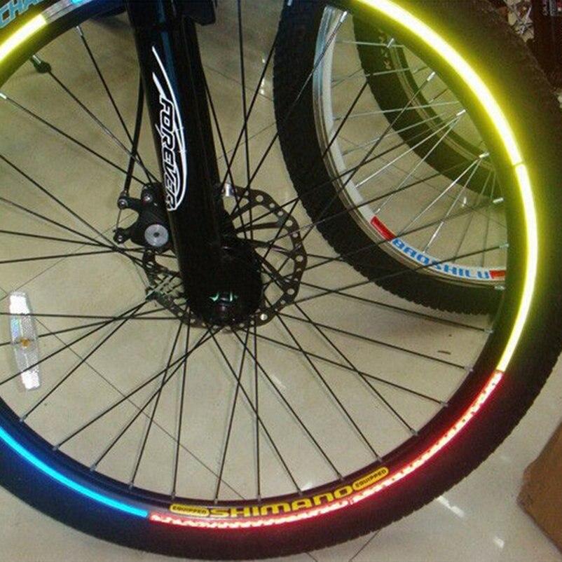 034be3be4 Fluorescente MTB bicicleta Bicicletas etiqueta Ciclismo rueda reflectante  Adhesivos Decal para deportes al aire libre Accesorios 065a