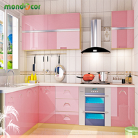 New Glossy PVC Waterproof Self Adhesive Wallpaper For Kitchen Cabinet Wardrobe Cupboard Contact Paper Home Decor