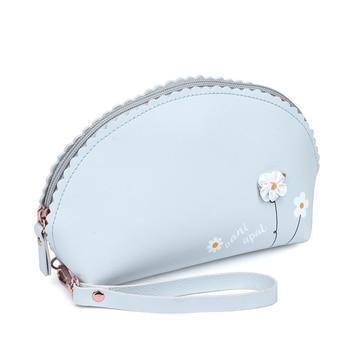 цена на New Women Zipper PU Leather Cosmetic Bag Female Key Coin Bag Case Ladies Cosmetics Organizer Travel Make Up Bags Storage Pouch