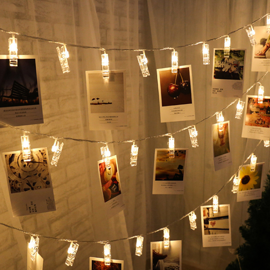 10 20 40 Led Card Photo Clip String Lights Holiday Decoration Led Fairy Light Xmas Bedroom DIY Clothespin Shapes Christmas Lamp10 20 40 Led Card Photo Clip String Lights Holiday Decoration Led Fairy Light Xmas Bedroom DIY Clothespin Shapes Christmas Lamp