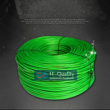 HQ антикоррозийный медный стальной трос кабель с зеленым ПВХ покрытием гибкий Гладкий для бельевой линии сельского хозяйства Тяговая подъемная