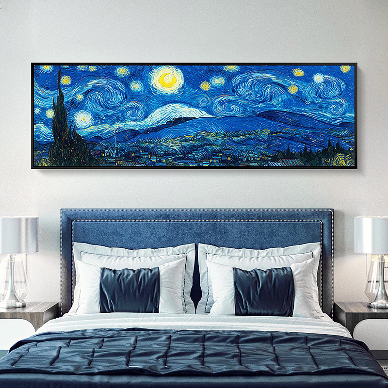 <font><b>Large</b></font> 5D <font><b>DIY</b></font> <font><b>Diamond</b></font> <font><b>Painting</b></font> Cross Stitch Van Gogh--Starry Sky Full Square Resin Drill <font><b>Diamond</b></font> Embroidery Room decoration Y1843 image