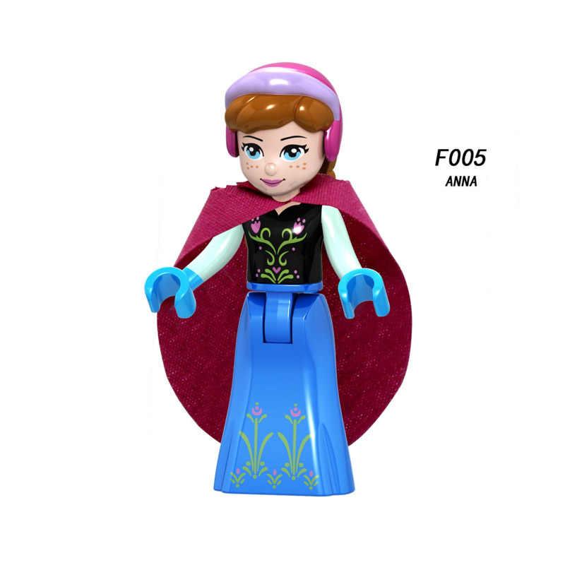 Jedna sprzedaż bajka księżniczka dziewczyna anna elsa kopciuszek eric przyjaciel Mini klocki klocki zabawki prezent dla dzieci