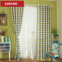 Modern Curtains with Plaid Printed Rustic Linen Curtains for Living Room Bedroom Custom Made Modern Curtains Drapes Kids