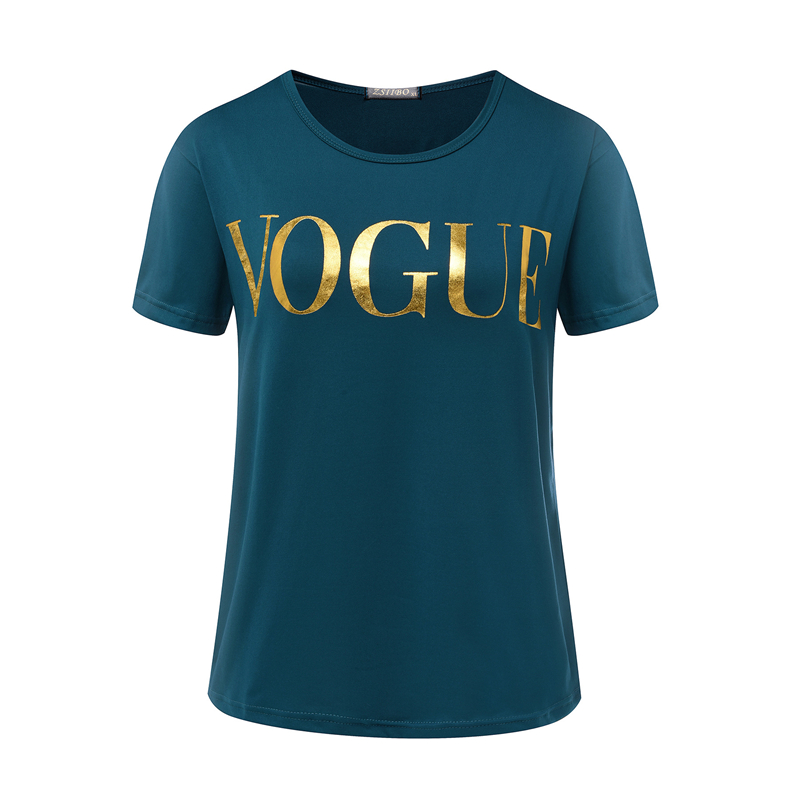 new s xxl fashion brand t shirt women vogue printed t. Black Bedroom Furniture Sets. Home Design Ideas