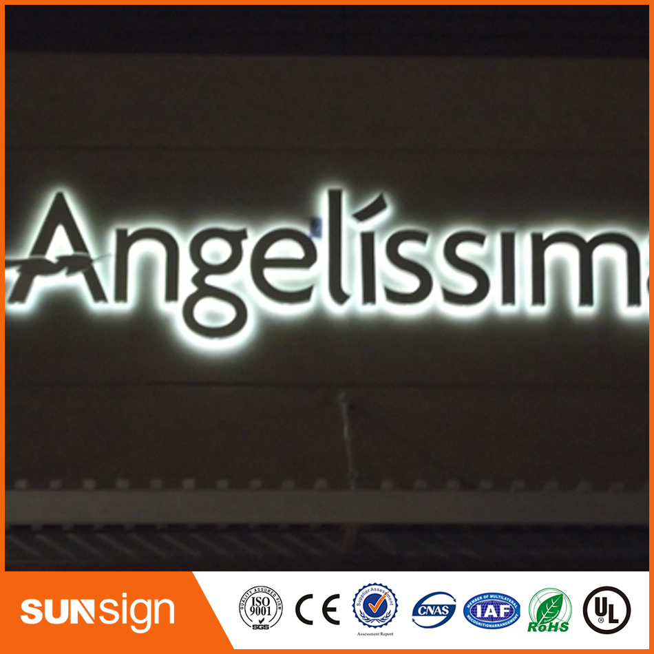 Outdoor Advertising Backlit Stainless Steel Led Letter Signs