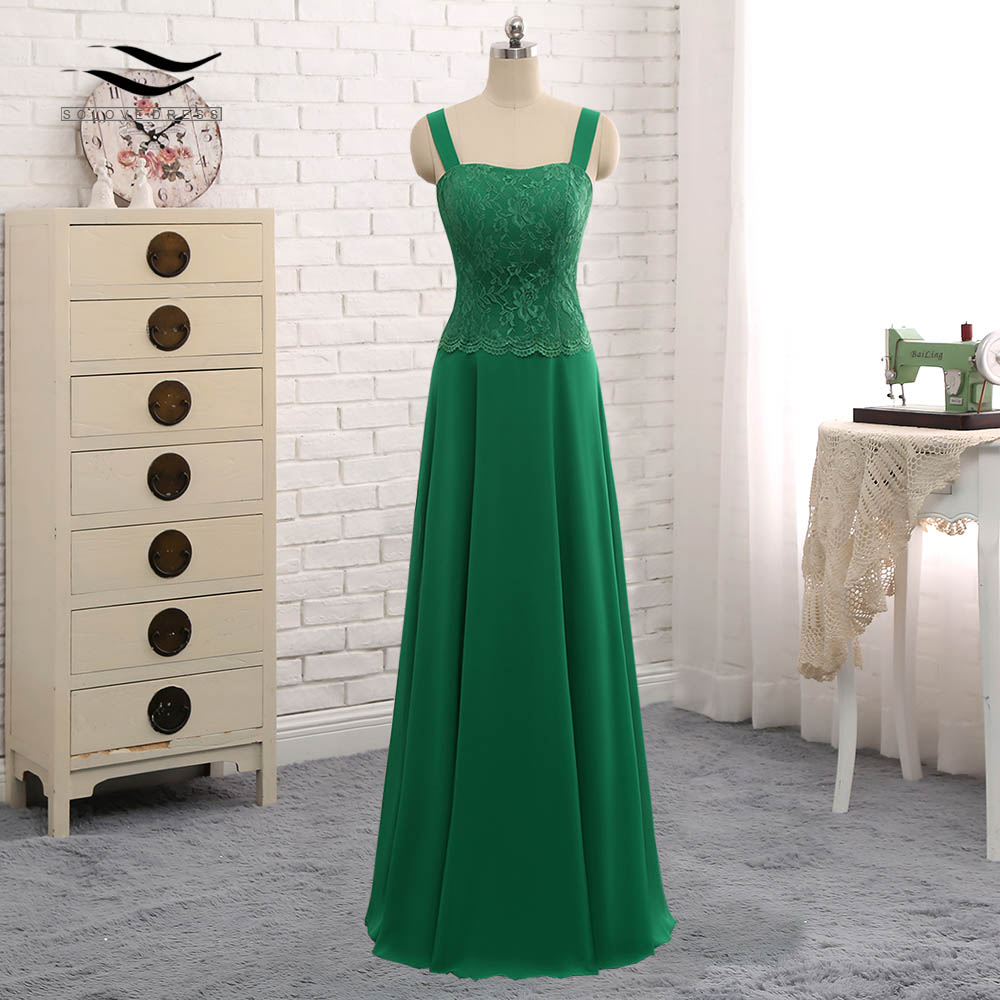 Long Sleeves Lace Cut Out Formal Gown Chiffon Mother Of the Bride Dress With Jacket For Wedding Party Vestido De Festa SL S013-in Mother of the Bride Dresses from Weddings & Events    3