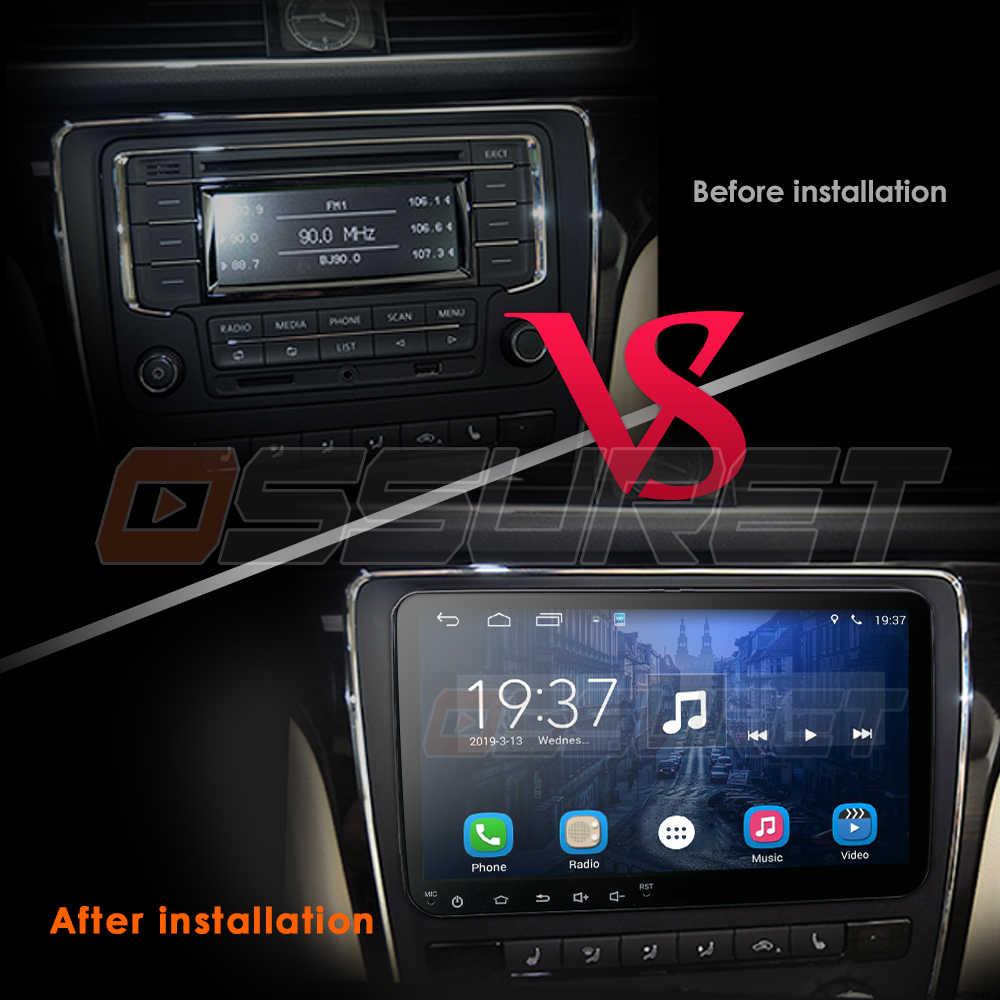 9 inch Android 9.0 car radio gps for Skoda Rapid/Octavia/Yeti/Superb/VW golf 5 6 touran passat B6 jetta polo tiguan Multimedia