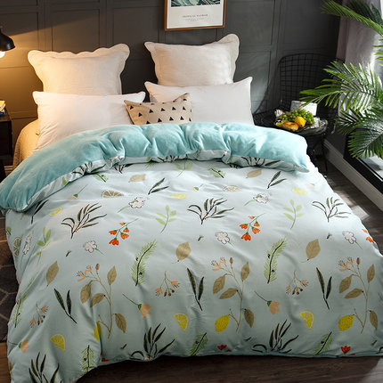 1 piece Warm Winter Cotton&flannel Multifunction AB Both Sides  flowers Duvet Cover colchas para cama de matrimonio1 piece Warm Winter Cotton&flannel Multifunction AB Both Sides  flowers Duvet Cover colchas para cama de matrimonio