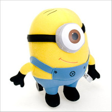 J119 Kawaii New Arrival 18cm Yellow Despicable Me Stuffed Doll Minion 3D Eye Plush Toys Gifts