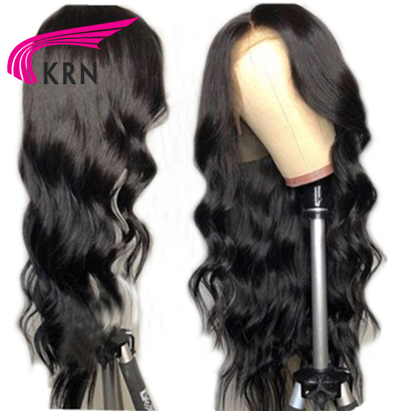 KRN 13X3 Brazilian Lace Front Human Hair Wigs For Women With Baby Hair Body Wave Remy