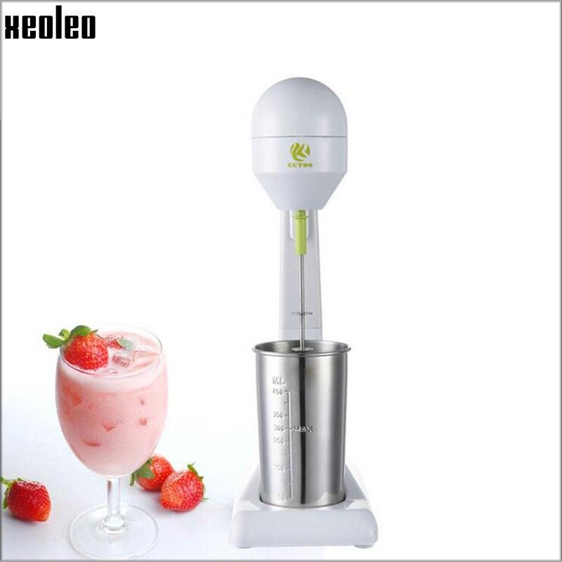 Xeoleo Milkshake machine ABS Milk shaker White+blue/plating 100W Milk Mixer Stirring machine цена