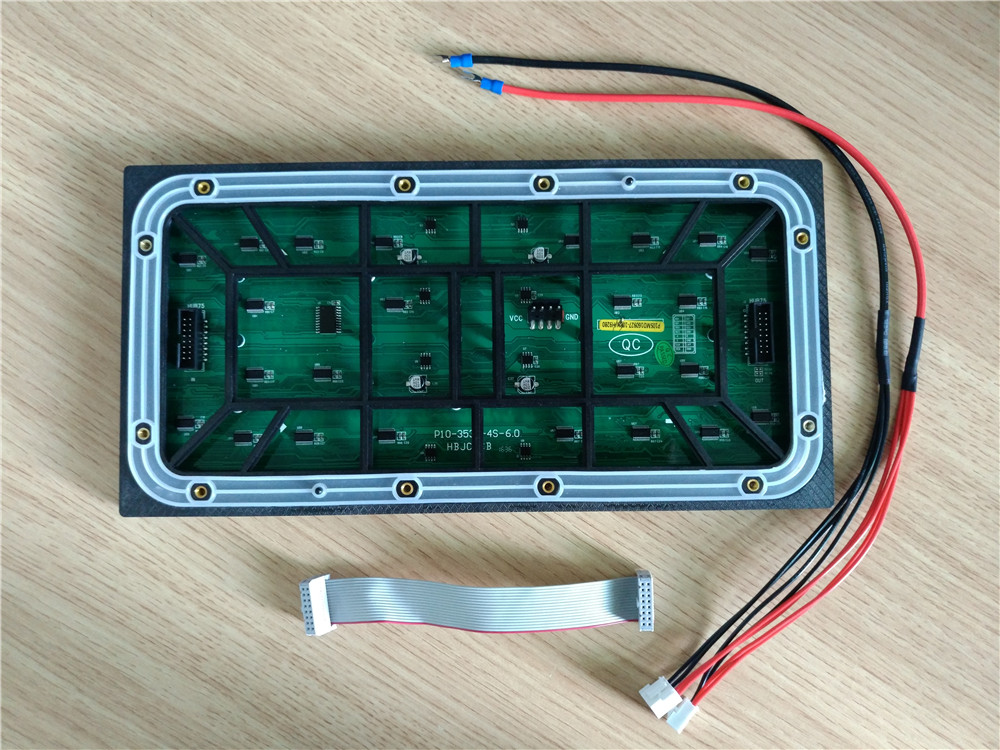 Outdoor Waterproof IP65 Ultra Bright PH10mm Full Color 320mm x 160mm 1/4scan LED Module