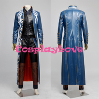 Japanese Game New High Quality Vergil Cosplay Costume Devil May Cry III 3 for halloween/party/masquerade adult