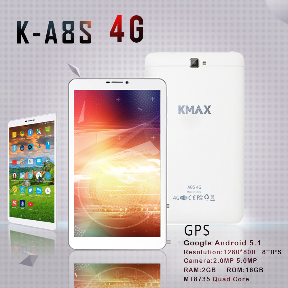 KMAX 8 inch Tablet PC Android 5 1 Internet Quad Core 4G Phone Call Tablets PC
