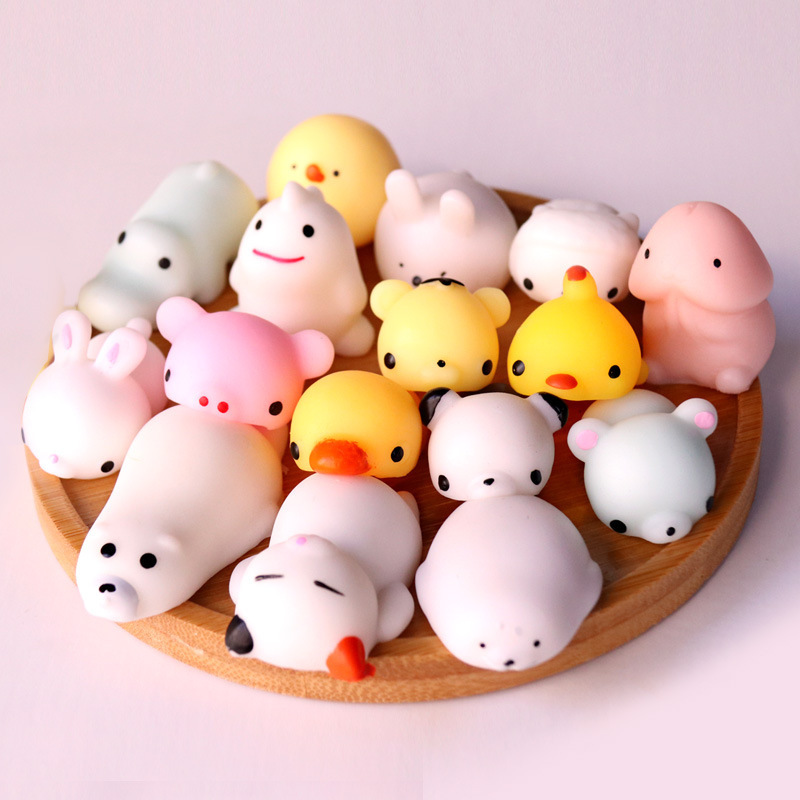 Mini Squishy Cute Cat Antistress Ball Squeeze Mochi Rising Abreact Soft Sticky Stress Relief Funny Toy Escuishi