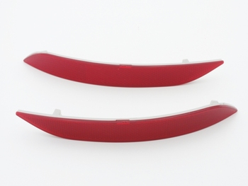 2 Pcs/Pair Red Lens Rear Bumper Reflector Lights Lamps for BMW X1 Series E84 2013-2014