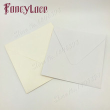 50PCS/lot 16*16cm white/ivory Square invitations wedding invitation envelopes handkerchief special univeral envelope