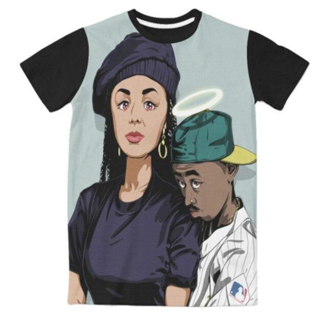 02f18b0f6 New Fashion 3D Print Tupac Janet Jackson Graphic T Shirts Funny Casual T-Shirt  Summer Hip Hop Tops Comfortable Clothing Tees