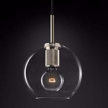 Americano RH Lampada Edison E27 G80 LED Lampadario Led Lampadario Appeso Illuminazione Oro/Nero/Argento Del Metallo Di Vetro Led Infissi Lampada