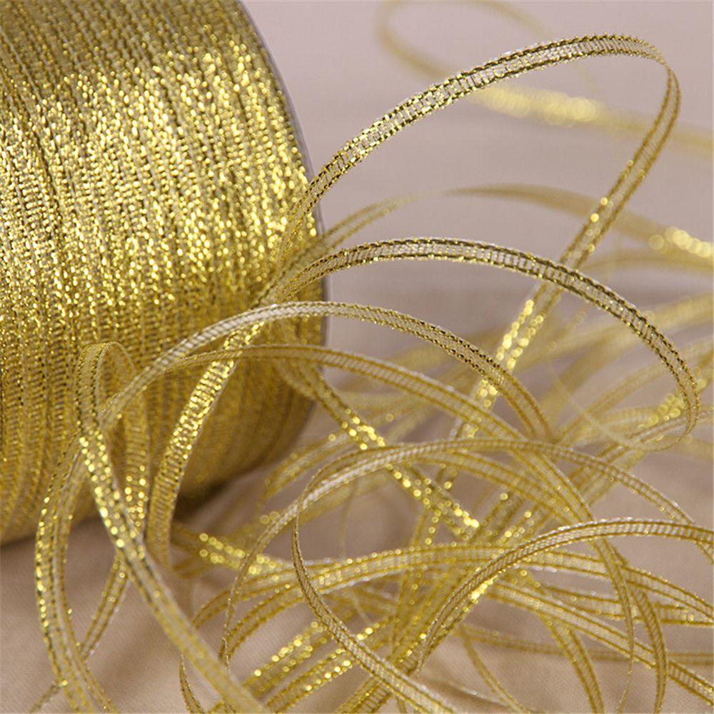 New Sale 25 Yards Xmas Decorative Handmade Silk Ribbon 6mm DIY Baked Cake Box Packaging Ribbon Wedding Party Gift Satin Belt