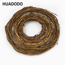 10cm /20cm Dried flowers Rattan Artificial flower Garland Christmas decoration Ring For DIY Handmade Door Hanging floral wreaths(China)