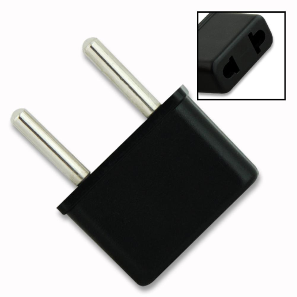 4x3.3x1.5 Cm Black US USA To EU European Asian African Travel Charger Plug Adapter Power Outlet Converter USA To Europe Plug