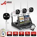 """4CH CCTV System Wireless NVR 7"""" LCD Screen H.264 P2P Cloud 720P HD Outdoor IR WIFI IP Camera Security Camera 1TB HDD&Email Alarm"""