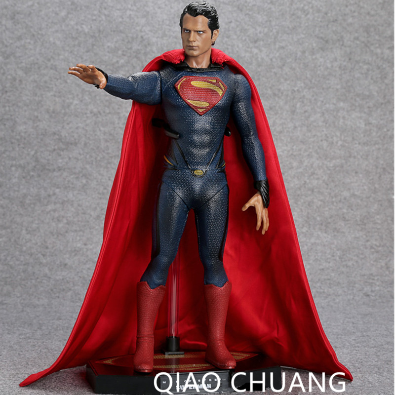 Justice League Avengers Superman Man of Steel PVC Action Figure Collectible Model Toy 12 30CM Fashion Anime Decoration G31 shf figuarts superman in justice ver pvc action figure collectible model toy