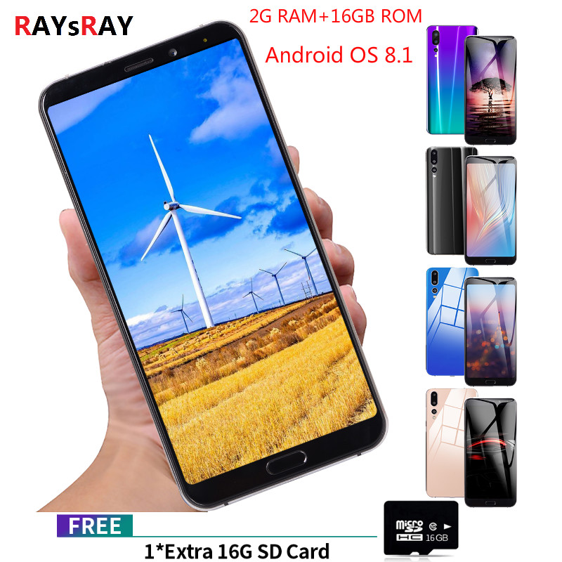 Raysray P20 Pro Mobile Phone 2GB+16GB Android 8.1 Cellphone Dual SIM Rugged Smartphone Camera 4G Mobile Phone 6.1 HD  18:9Raysray P20 Pro Mobile Phone 2GB+16GB Android 8.1 Cellphone Dual SIM Rugged Smartphone Camera 4G Mobile Phone 6.1 HD  18:9