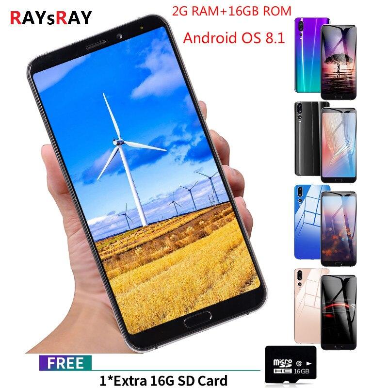 Raysray P20 Pro téléphone portable 2 GB + 16 GB Android 8.1 téléphone portable double SIM Smartphone robuste caméra 4G téléphone portable 6.1