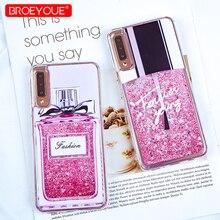 Glitter Liquid Case For Samsung Galaxy A8 Plus 2018 S7 Edge S9 S8 Note 9 A5 2017 J3 J5 2016
