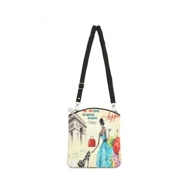 6dc343d42644 Fashion Women Messenger Bags Vintage Canvas Printing Small Satchel Shoulder  European Style Girls Handbag Lady Crossbody Bag