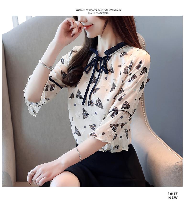 4f58adeba3 2019 Korean Fashion Clothing Ladies Tops Fashion Women and Tops White  Blouse Shirts Chiffon Blouse Harajuku Shirt 3458 50